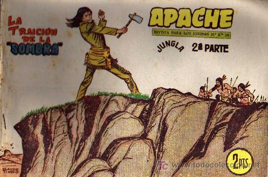 APACHE Nº 70 2ª PARTE - TINOCO - COL. JUNGLA - EDITORIAL MAGA 1959 - ORIGINAL, NO FACSIMIL (Tebeos y Comics - Maga - Apache)