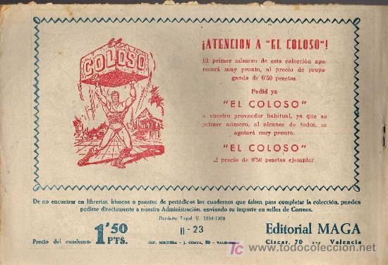 Tebeos: APACHE Nº 23 2ª PARTE - TINOCO - COL. JUNGLA - EDITORIAL MAGA 1959 - ORIGINAL, NO FACSIMIL - Foto 2 - 10996852