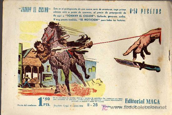 Tebeos: APACHE Nº 28 2ª PARTE - TINOCO - COL. JUNGLA - EDITORIAL MAGA 1959 - ORIGINAL, NO FACSIMIL - Foto 2 - 11007768