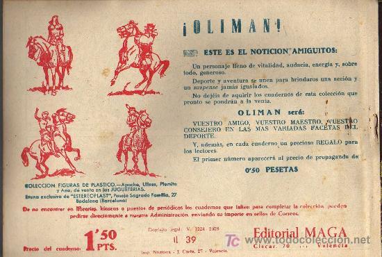Tebeos: APACHE Nº 39 2ª PARTE - TINOCO - COL. JUNGLA - EDITORIAL MAGA 1959 - ORIGINAL, NO FACSIMIL - Foto 2 - 11007936
