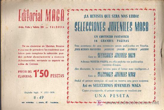 Tebeos: APACHE Nº 49 2ª PARTE - TINOCO - COL. JUNGLA - EDITORIAL MAGA 1959 - ORIGINAL, NO FACSIMIL - Foto 2 - 11008097