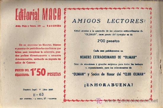 Tebeos: APACHE Nº 63 2ª PARTE - TINOCO - COL. JUNGLA - EDITORIAL MAGA 1959 - ORIGINAL, NO FACSIMIL - Foto 2 - 11008220