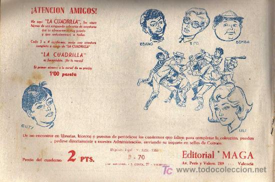 Tebeos: APACHE Nº 70 2ª PARTE - TINOCO - COL. JUNGLA - EDITORIAL MAGA 1959 - ORIGINAL, NO FACSIMIL - Foto 2 - 11008306