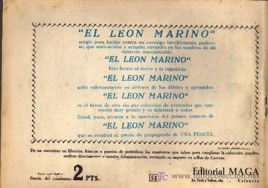 Tebeos: EL PRINCIPE DE RODAS - Nº 58 - LOPEZ BLANCO - ED. MAGA 1960 - ORIGINAL, NO FACSIMIL - Foto 2 - 11032502