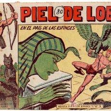 Tebeos: PIEL DE LOBO Nº 80 ORIGINAL , MAGA 1959, MUY DIFICIL. Lote 12010001