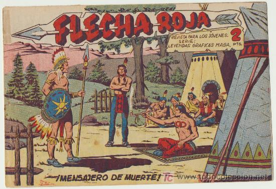FLECHA ROJA Nº 44. (Tebeos y Comics - Maga - Flecha Roja)