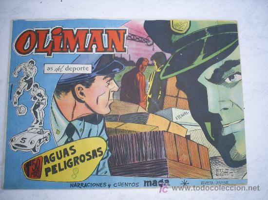 OLIMAN Nº 13, CON CROMO EN LA CONTRAPORTADA. SANTAMARIA (Tebeos y Comics - Maga - Oliman)