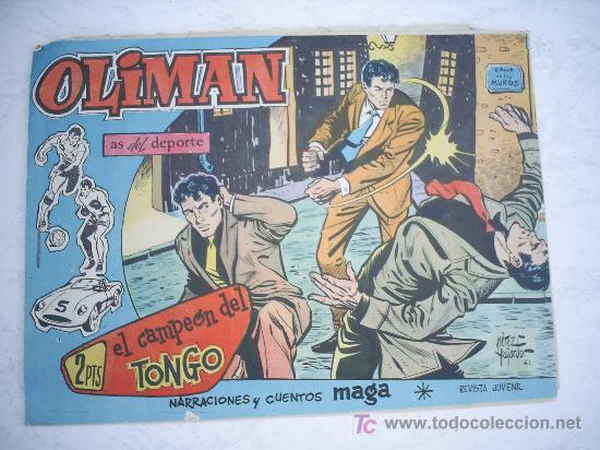 OLIMAN Nº 50, CON CROMO EN LA CONTRAPORTADA. REAL GIJON CLUB DE FUTBOL (Tebeos y Comics - Maga - Oliman)