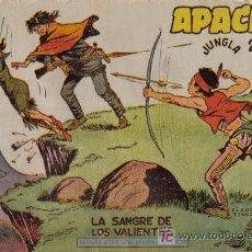 Tebeos: APACHE - 2ª PARTE - Nº 34 - LA SANGRE DE LOS VALIENTES - EDITORIAL MAGA - ORIGINAL DE 1957.. Lote 16078037