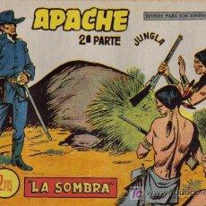 BDs: APACHE - 2ª PARTE - Nº 63 - LA SOMBRA - EDITORIAL MAGA - ORIGINAL DE 1957.. Lote 16078334