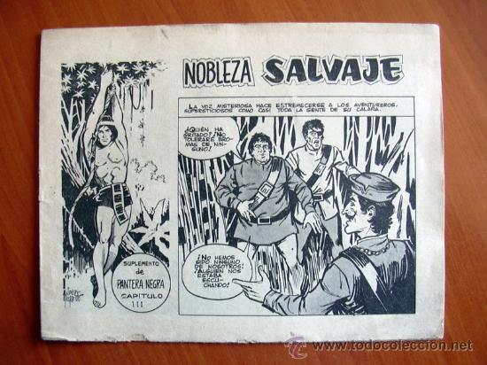 NOBLEZA SALVAJE Nº 3 - SUPLEMENTO DE LA REVISTA PANTERA NEGRA - EDITORIAL MAGA (Tebeos y Comics - Maga - Pantera Negra)