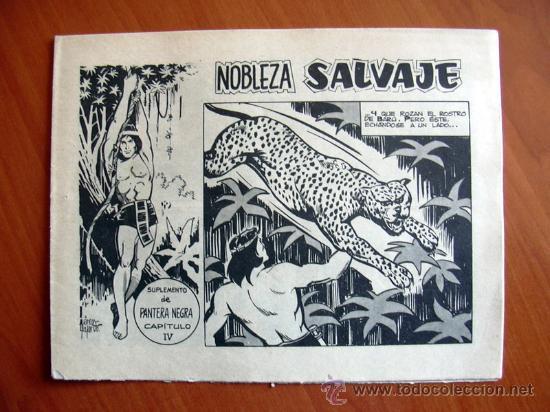 NOBLEZA SALVAJE Nº 4 - SUPLEMENTO DE LA REVISTA PANTERA NEGRA - EDITORIAL MAGA (Tebeos y Comics - Maga - Pantera Negra)