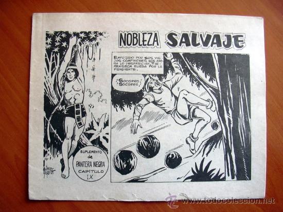 NOBLEZA SALVAJE Nº 9 - SUPLEMENTO DE LA REVISTA PANTERA NEGRA - EDITORIAL MAGA (Tebeos y Comics - Maga - Pantera Negra)