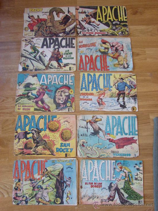 LOTE DE 10 NUMEROS DE APACHE. MAGA. NUM. 36, 37, 38, 48, 50, 51, 52, 53, 54 Y 55 (Tebeos y Comics - Maga - Apache)