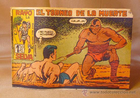 COMIC, EL TORNEO DE LA MUERTE, RAYO DE LA SELVA, Nº 28 , EDITORIAL MAGA, ORIGINAL (Tebeos y Comics - Maga - Rayo de la Selva)