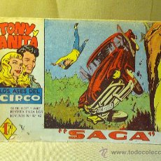 Tebeos: COMIC, TONY Y ANITA, Nº 12, EDITORIAL MAGA, LOS ASES DEL CIRCO, SAGA, ORIGINAL. Lote 22683589