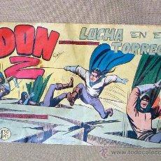 Tebeos: COMIC, DON Z, LUCHA EN EL TORREON, Nº 10, MAGA, ORIGINAL, 1959. Lote 22849353