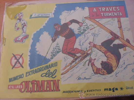 OLIMAN EXTRA Nº 7 ( ORIGINAL ED. MAGA ) REAL SOCIEDAD EN CONTRAPORTADA (S3) (Tebeos y Comics - Maga - Oliman)