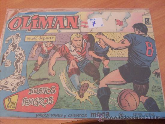 OLIMAN Nº 40 ( ORIGINAL ED. MAGA ) CLUB DEPORTIVO MALAGA EN CONTRAPORTADA (S3) (Tebeos y Comics - Maga - Oliman)