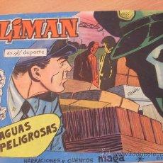 Tebeos: OLIMAN Nº 13 ( ORIGINAL ED. MAGA ) JUGADOR SANTAMARIA DEL REAL MADRID EN CONTRAPORTADA (S3). Lote 24766479