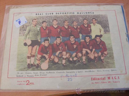 Tebeos: OLIMAN Nº 25 ( ORIGINAL ED. MAGA ) REAL CLUB DEPORTIVO MALLORCA EN CONTRAPORTADA (S3) - Foto 2 - 24766392