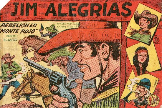 JIM ALEGRIAS 1960 Nº9 REBELION EN MONTE ROJO (Tebeos y Comics - Maga - Otros)