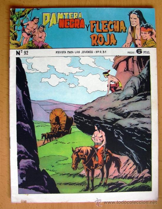 PANTERA NEGRA Y FLECHA ROJA Nº 92 - EDITORIAL MAGA 1962 (Tebeos y Comics - Maga - Flecha Roja)