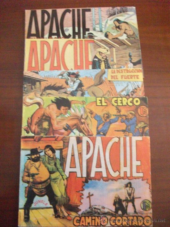 APACHE LOTE DE 5 NºS REEDICION EDITORIAL MAGA (Tebeos y Comics - Maga - Apache)