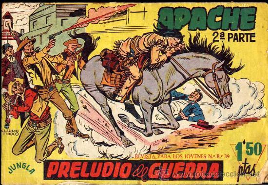 APACHE 2ª PARTE-CLAUDIO TINOCO -SUELTOS CAJA 49 BIBLIOTECA (Tebeos y Comics - Maga - Apache)