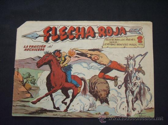 FLECHA ROJA - Nº 41 - LA TRAICION DEL HECHICERO - EDIT. MAGA - (Tebeos y Comics - Maga - Flecha Roja)