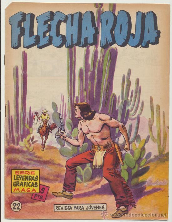 FLECHA ROJA REVISTA Nº 22. MAGA 1962. (Tebeos y Comics - Maga - Flecha Roja)