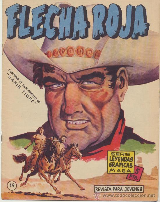 FLECHA ROJA REVISTA Nº 19. MAGA 1962. (Tebeos y Comics - Maga - Flecha Roja)
