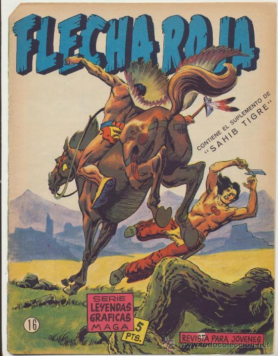 FLECHA ROJA REVISTA Nº 16. MAGA 1962. (Tebeos y Comics - Maga - Flecha Roja)
