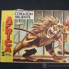Tebeos: SERIE ATLETAS - AFRICA - Nº 2 - CORAZON VALIENTE - EDIT. MAGA - . Lote 28842091
