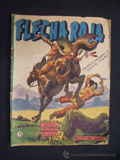 SERIE LEYENDAS GRAFICAS MAGA - FLECHA ROJA - Nº 16 - (Tebeos y Comics - Maga - Flecha Roja)