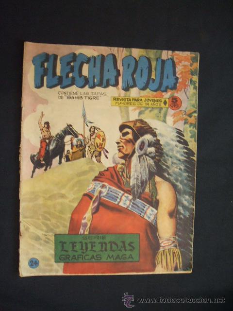 SERIE LEYENDAS GRAFICAS MAGA - FLECHA ROJA - Nº 24 - (Tebeos y Comics - Maga - Flecha Roja)
