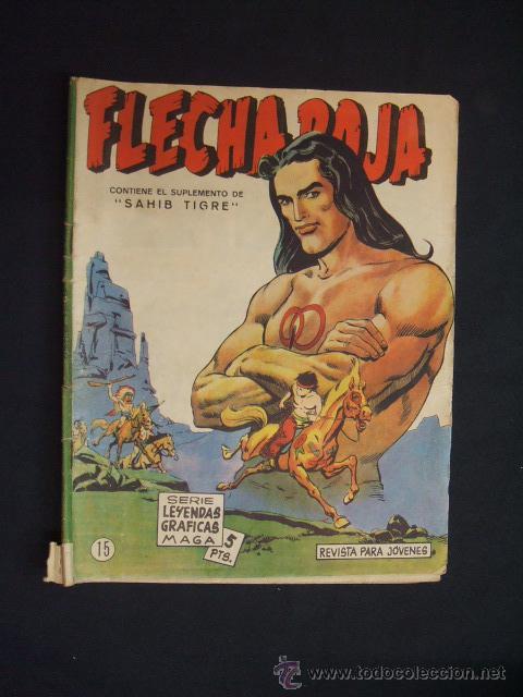 SERIE LEYENDAS GRAFICAS MAGA - FLECHA ROJA - Nº 14 - (Tebeos y Comics - Maga - Flecha Roja)