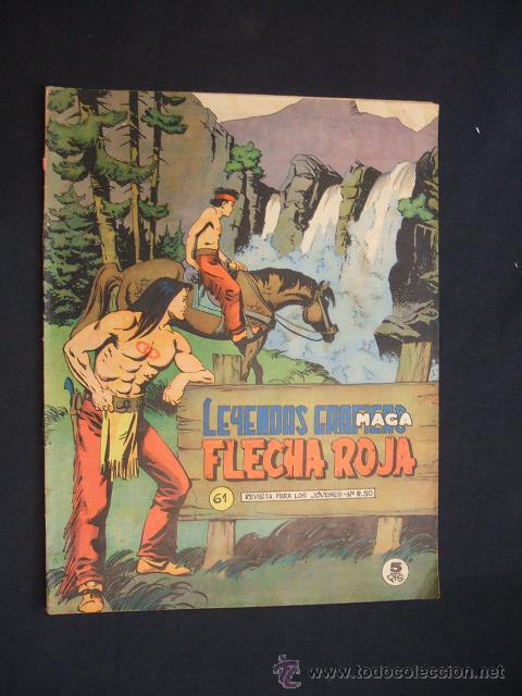 LEYENDAS GRAFICAS MAGA - FLECHA ROJA - Nº 61 - (Tebeos y Comics - Maga - Flecha Roja)