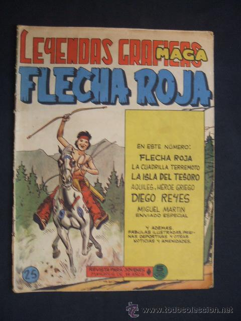 LEYENDAS GRAFICAS MAGA - FLECHA ROJA - Nº 25 - (Tebeos y Comics - Maga - Flecha Roja)