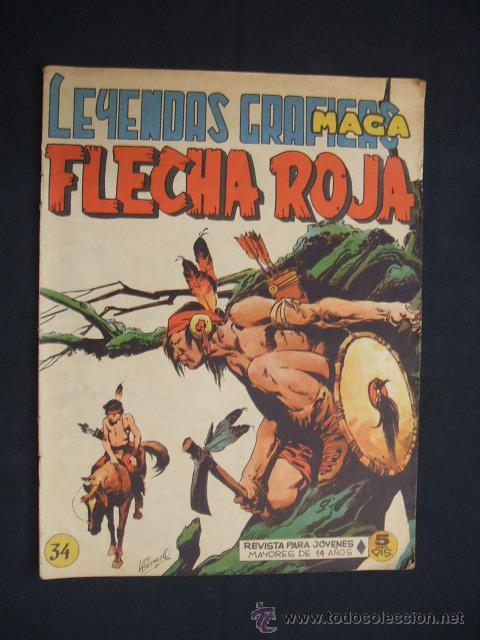 LEYENDAS GRAFICAS MAGA - FLECHA ROJA - Nº 34 - (Tebeos y Comics - Maga - Flecha Roja)