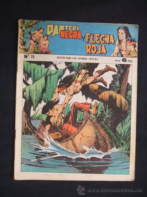 PANTERA NEGRA Y FLECHA ROJA - Nº 78 - EDITORIAL MAGA - (Tebeos y Comics - Maga - Flecha Roja)