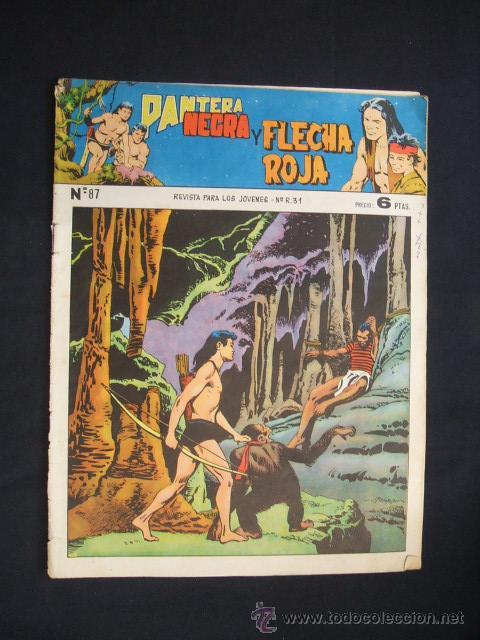 PANTERA NEGRA Y FLECHA ROJA - Nº 87 - EDITORIAL MAGA - (Tebeos y Comics - Maga - Flecha Roja)