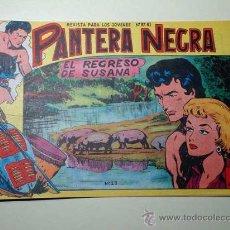 Tebeos: PANTERA NEGRA Nº 23. REGRESO SUSANA. PEDRO QUESADA Y JOSÉ ORTIZ. EDITORIAL MAGA 1964 DE 2 PTS. ++. Lote 29468580