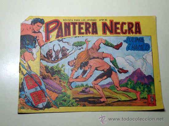 PANTERA NEGRA Nº 26. SULIMA Y HAMED. PEDRO QUESADA Y JOSÉ ORTIZ. EDITORIAL MAGA 1964 DE 2 PTS. ++ (Tebeos y Comics - Maga - Pantera Negra)