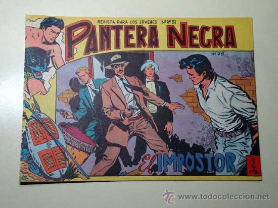 PANTERA NEGRA Nº 28. EL IMPOSTOR. PEDRO QUESADA Y JOSÉ ORTIZ. EDITORIAL MAGA 1964 DE 2 PTS. ++ (Tebeos y Comics - Maga - Pantera Negra)