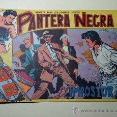 Tebeos: PANTERA NEGRA Nº 28. EL IMPOSTOR. PEDRO QUESADA Y JOSÉ ORTIZ. EDITORIAL MAGA 1964 DE 2 PTS. ++. Lote 29468622