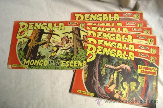 BENGALA 2ª PARTE Nº 16, 17, 21, 23, 24, 25, 26 Y 39, AÑO 1959. EIDTORIAL MAGA (Tebeos y Comics - Maga - Bengala)