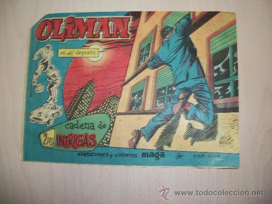 OLIMAN Nº 41 ORIGINAL EDITORIAL MAGA CONTRAPORTADA CON ALINEACION DEL REAL JAEN (Tebeos y Comics - Maga - Oliman)