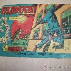 Tebeos: OLIMAN Nº 41 ORIGINAL EDITORIAL MAGA CONTRAPORTADA CON ALINEACION DEL REAL JAEN. Lote 30315994