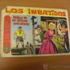 Tebeos: LOS IMBATIDOS Nº 15, DE MAGA 1963, DE 5 PESETAS. Lote 30899718